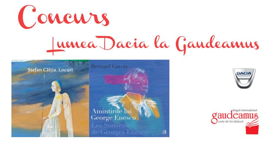 Concurs: Dacia la Gaudeamus, mașina cititorilor de cursă lungă